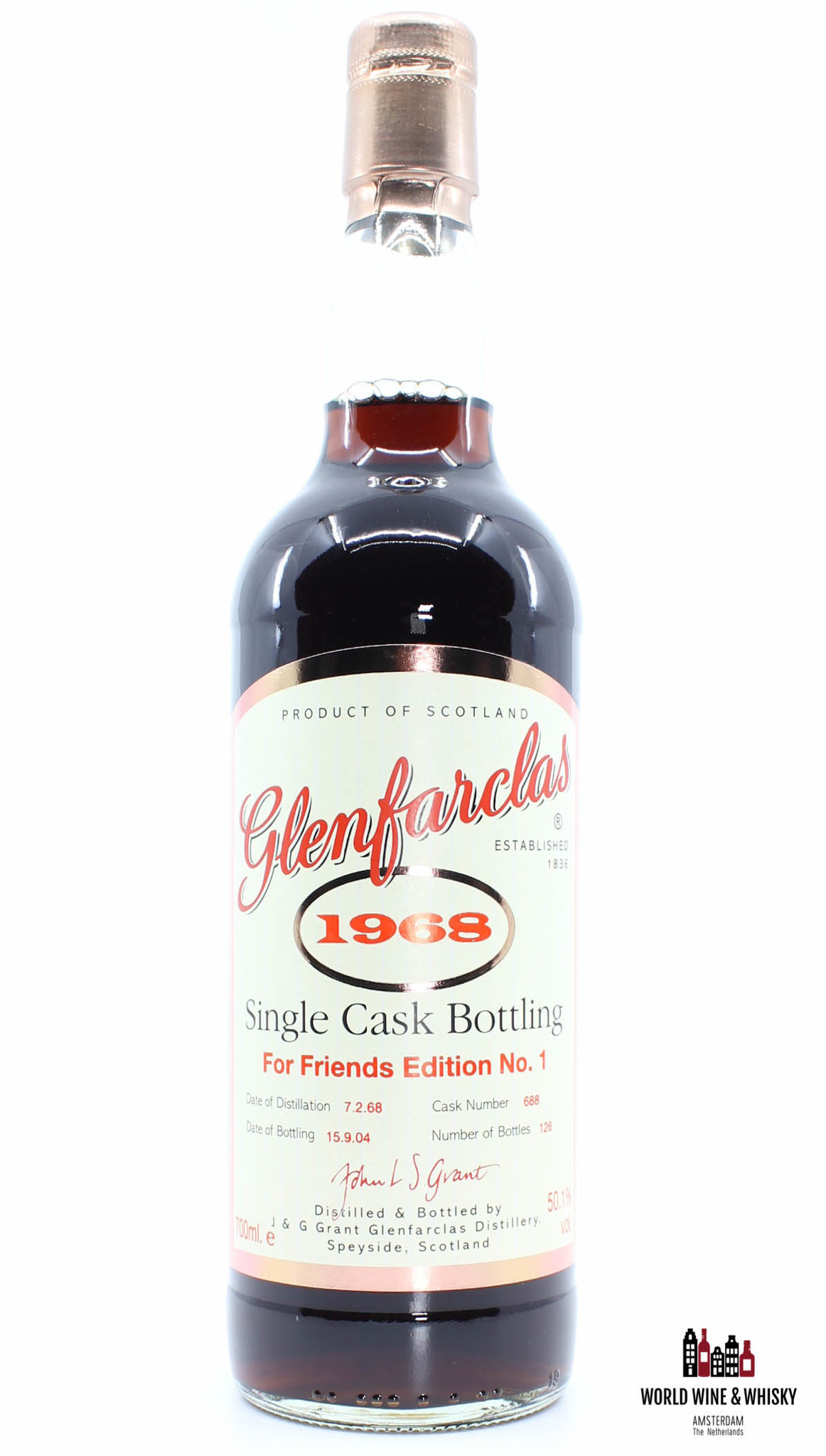 Glenfarclas Glenfarclas 36 Years Old 1968 2004 - Cask 688 - For Friends Edition No. 1 50.1%