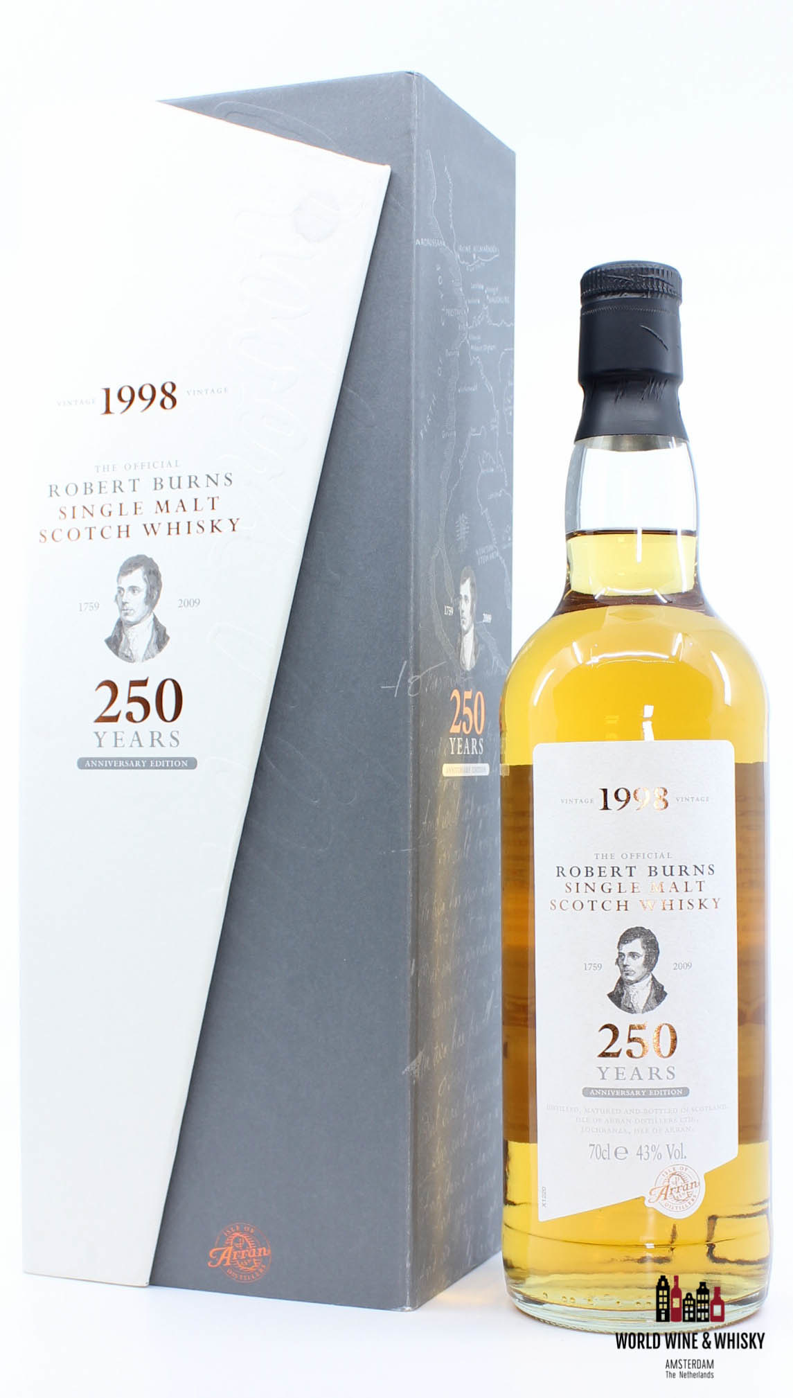 Arran Arran 10 Years Old 1998 2008 Robert Burns - 250 Years Anniversary Edition 43%