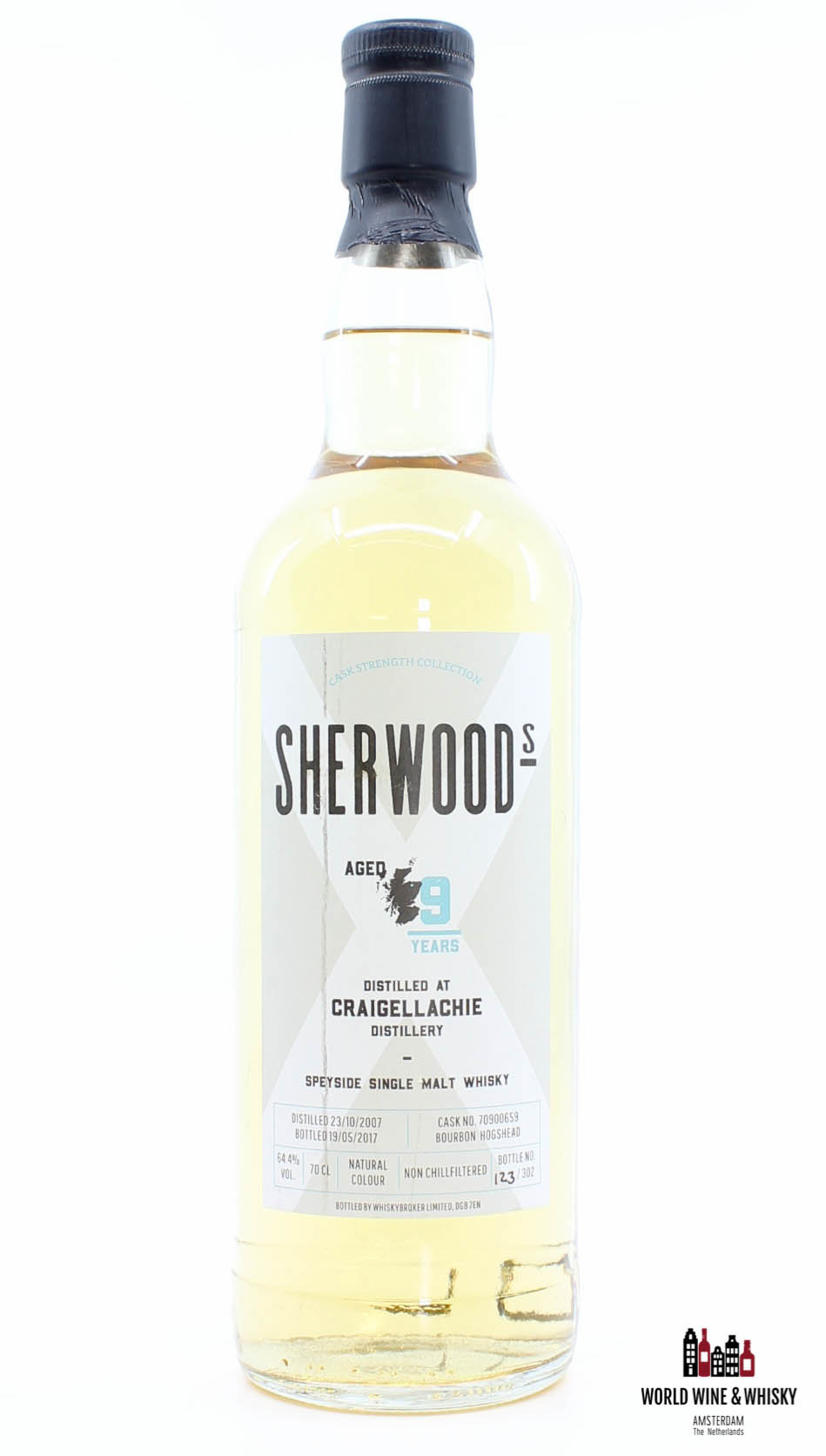 Craigellachie Craigellachie 9 Years Old 2007 2017 Cask Strength Collection - Cask 70900659 - Sherwoods 64.4%