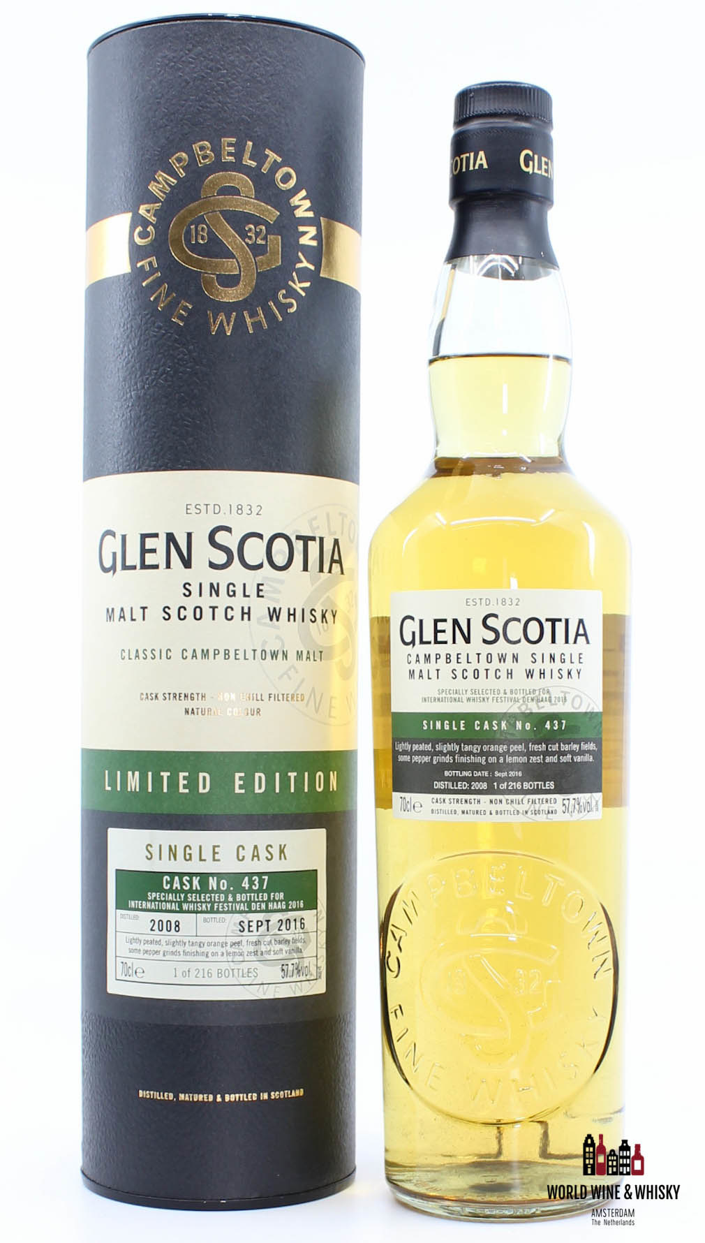 Glen Scotia Glen Scotia 8 Years Old 2008 2016 Limited Edition - Single Cask No. 437 57.7%
