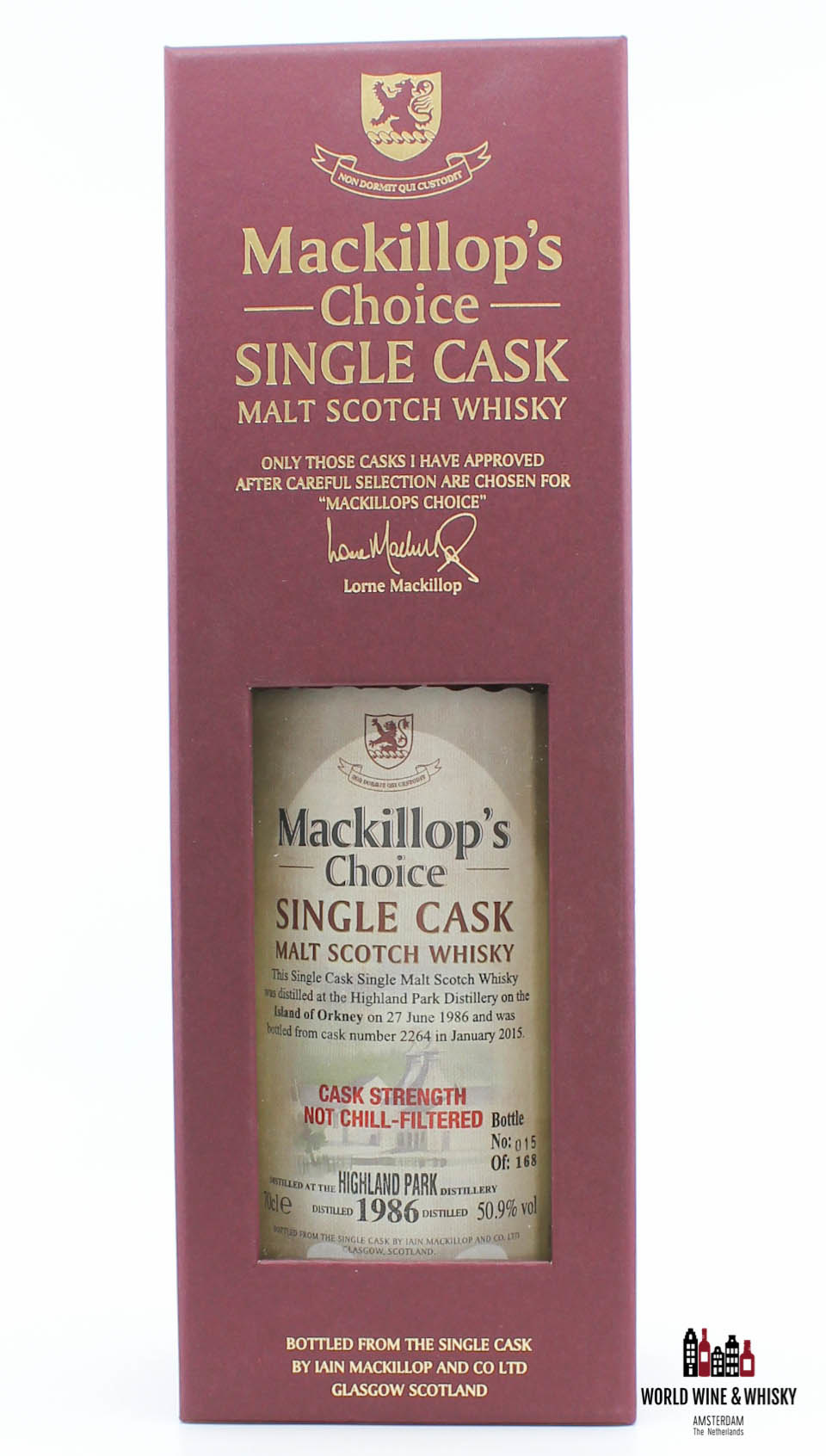 Highland Park Highland Park 28 Years Old 1986 2015 Single Cask - Cask 2264 - Mackillop's Choice 50.9% (one of 168 bottles)