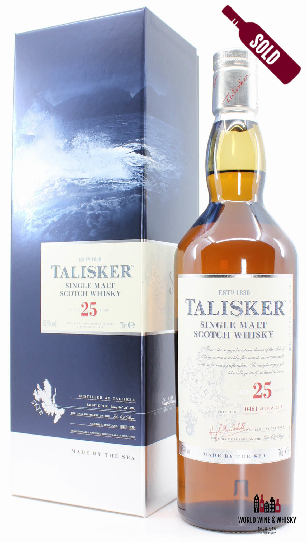 Talisker Talisker 25 Years Old 2018 Made by the Sea 45.8% (one of 14058 bottles)