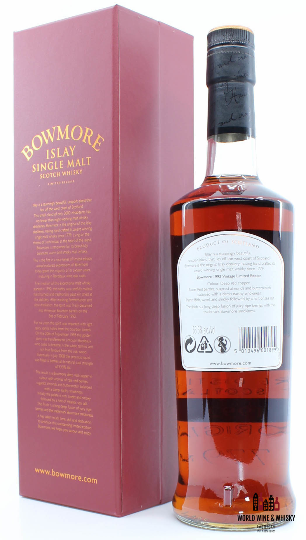 Bowmore Bowmore 16 Years Old 1992 2008 Wine Cask Matured 53.5%