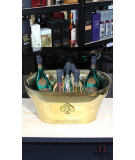 Armand de Brignac Armand de Brignac Gold Champange cooler/ice bucket XL 'Ace of Spades' (for 7 bottles)