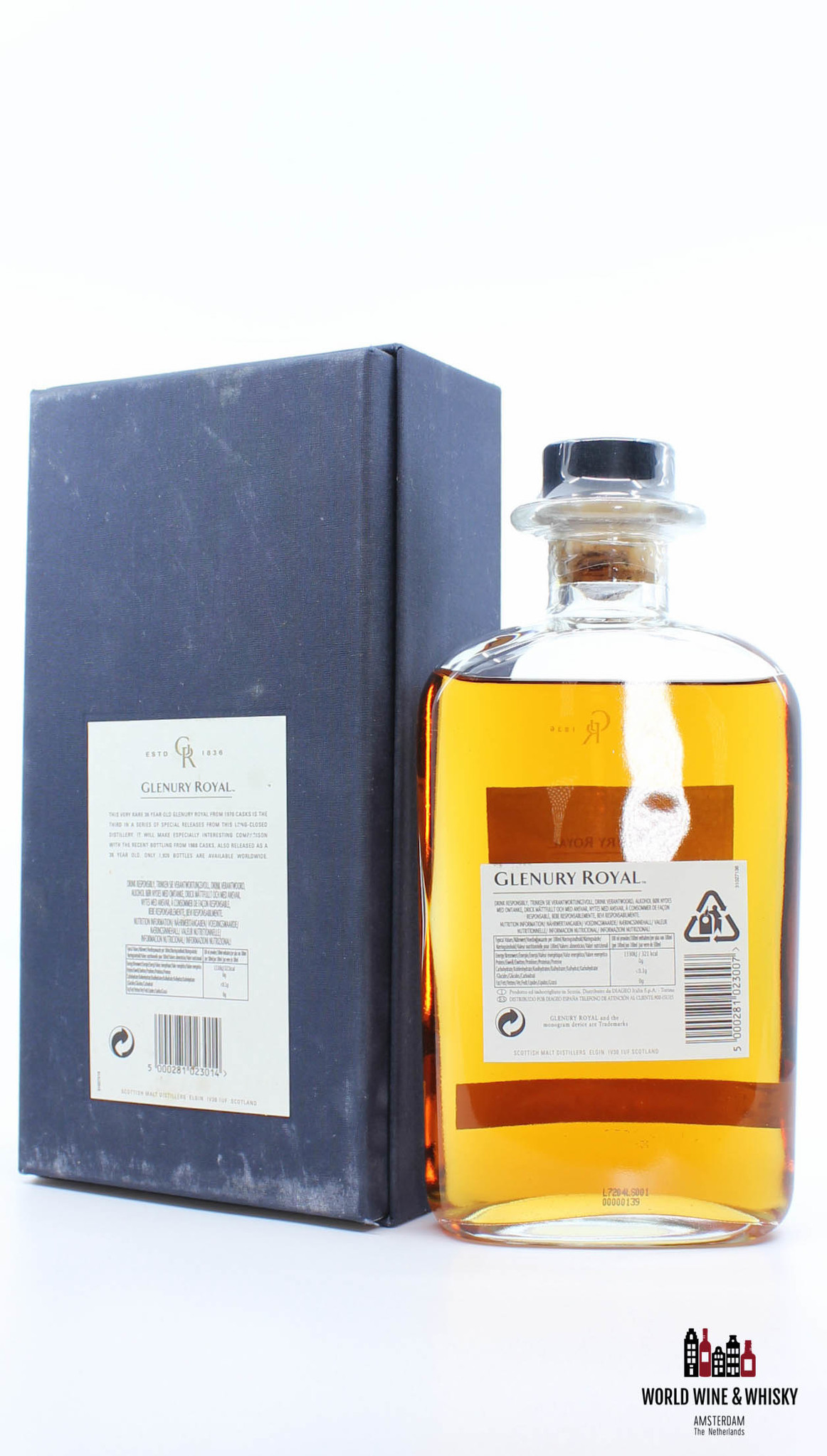 Glenury Royal Glenury Royal 36 Years Old 1970 2007 57.9% (Closed Distillery)