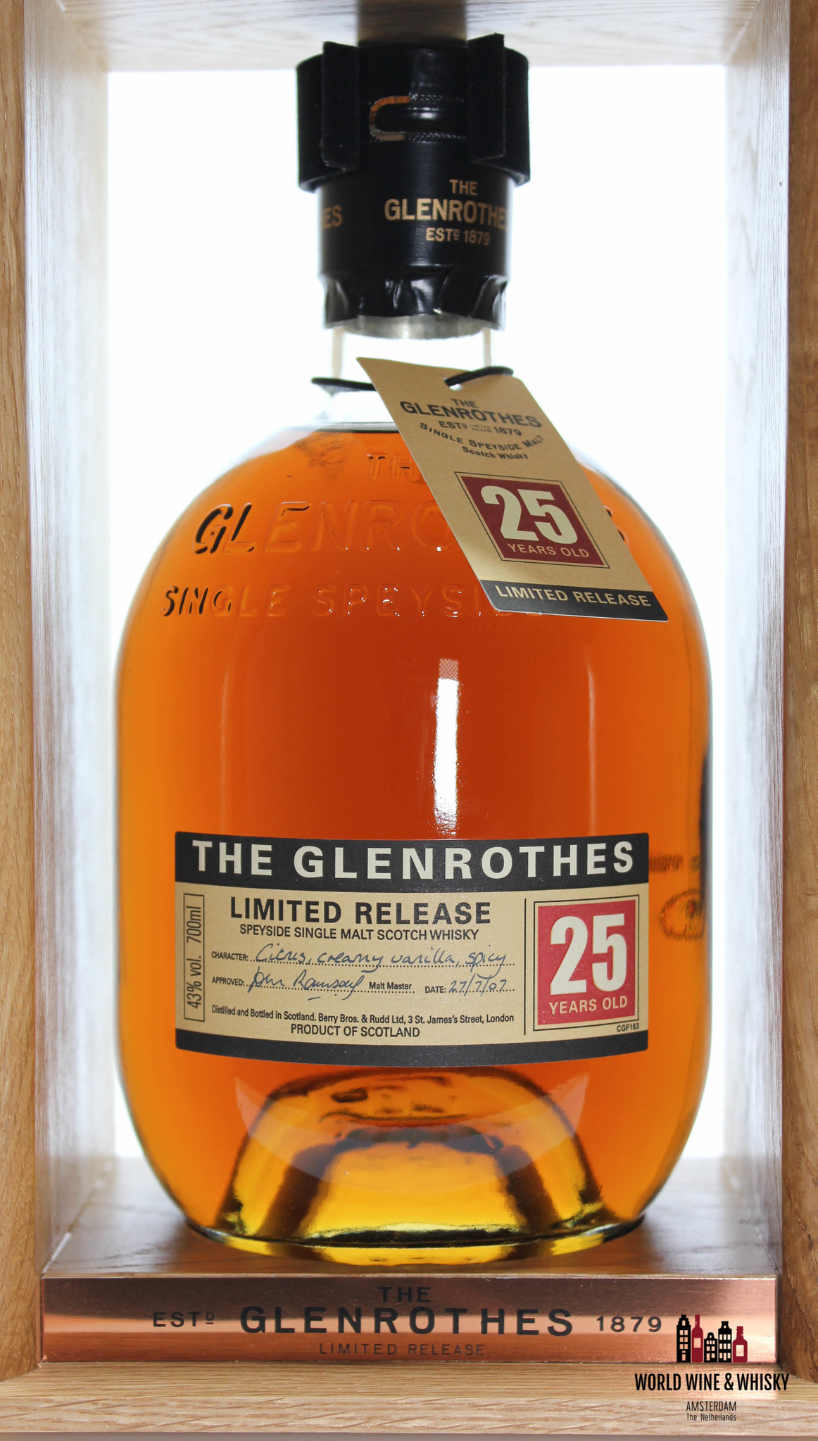 Glenrothes The Glenrothes 25 Years Old - Limited Release 2007 43%