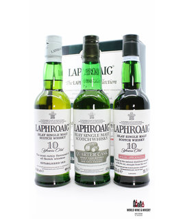 Laphroaig The Laphroaig Collection 2008 - 10 Years Old - Quarter Cask - 10 Years Old Original Cask Strength 3x33.33cl