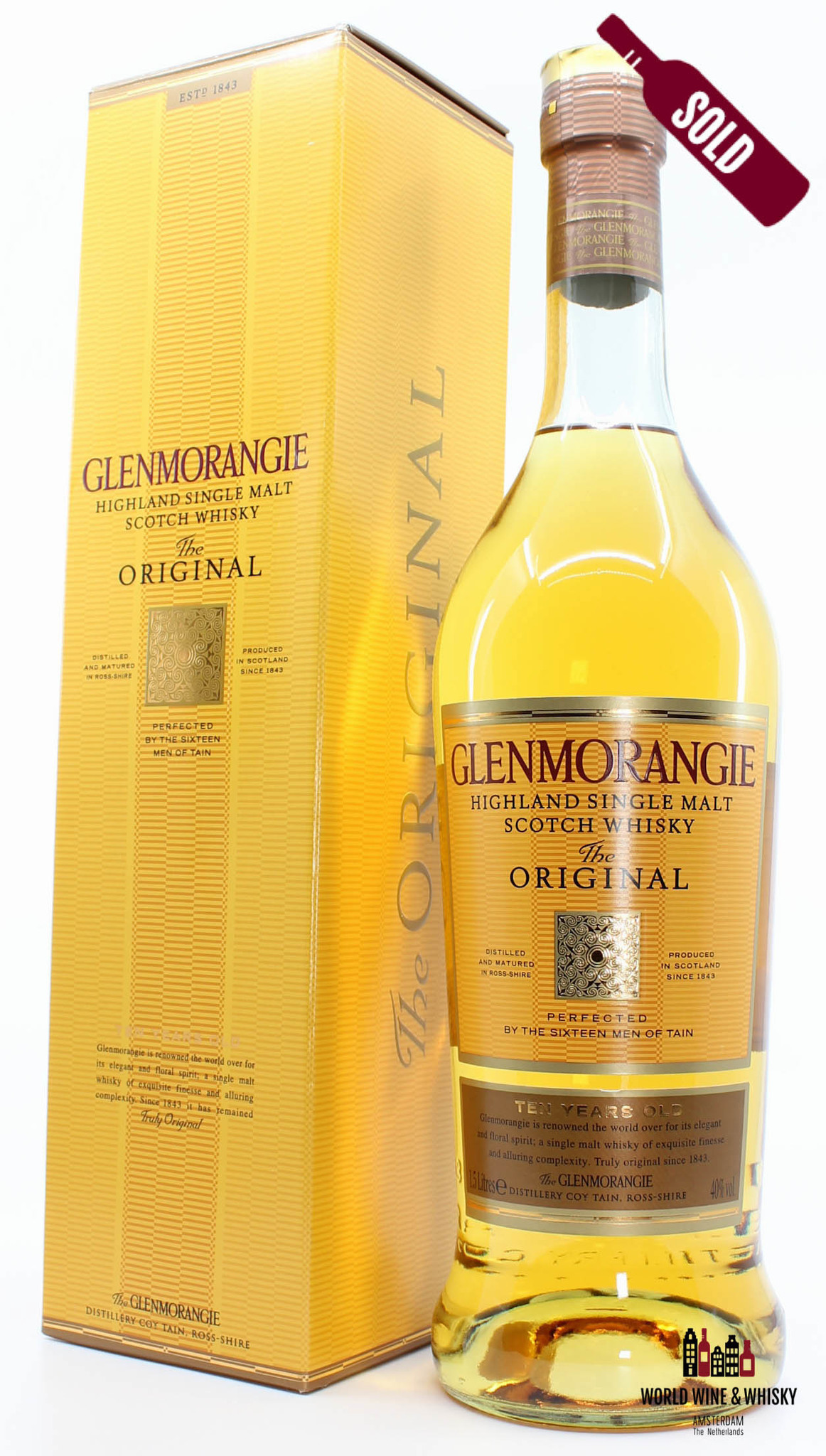 Glenmorangie 10 Years Old - The Original - Magnum 1.5 Litres (150cl)