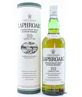 Laphroaig Laphroaig 10 Years Old - Single Malt Scotch Whisky - Old Label 43% 1 Litre (in case)