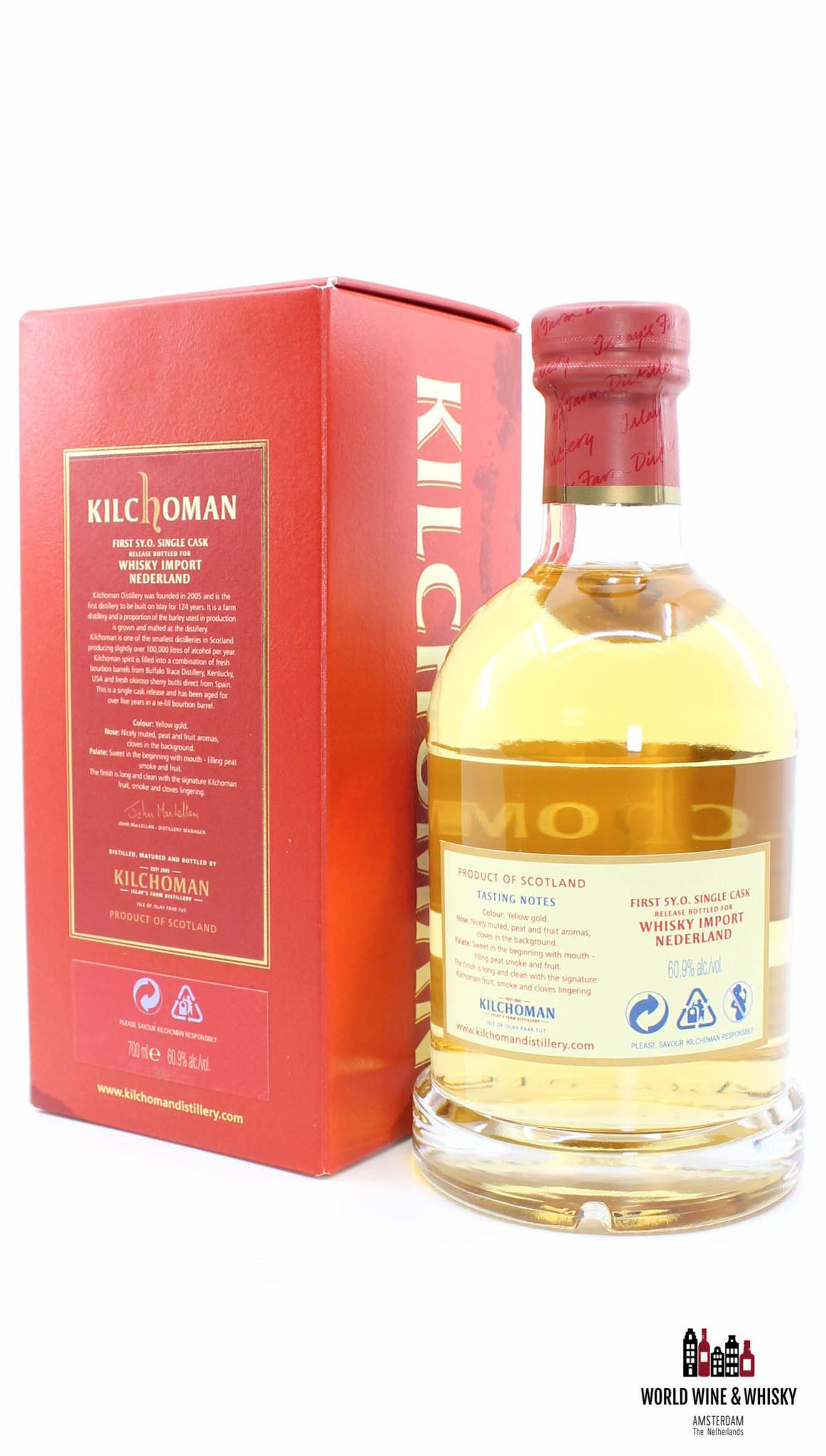 Kilchoman Kilchoman 5 Years Old 2006 2011 Single Cask Release - Whisky Import Nederland - Cask 99/2006 60.9% (one of 240 bottles)