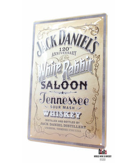 Jack Daniel's Iron Jack Daniel's Billboard Plate Sign - 120th Anniversary - White Rabbit Saloon