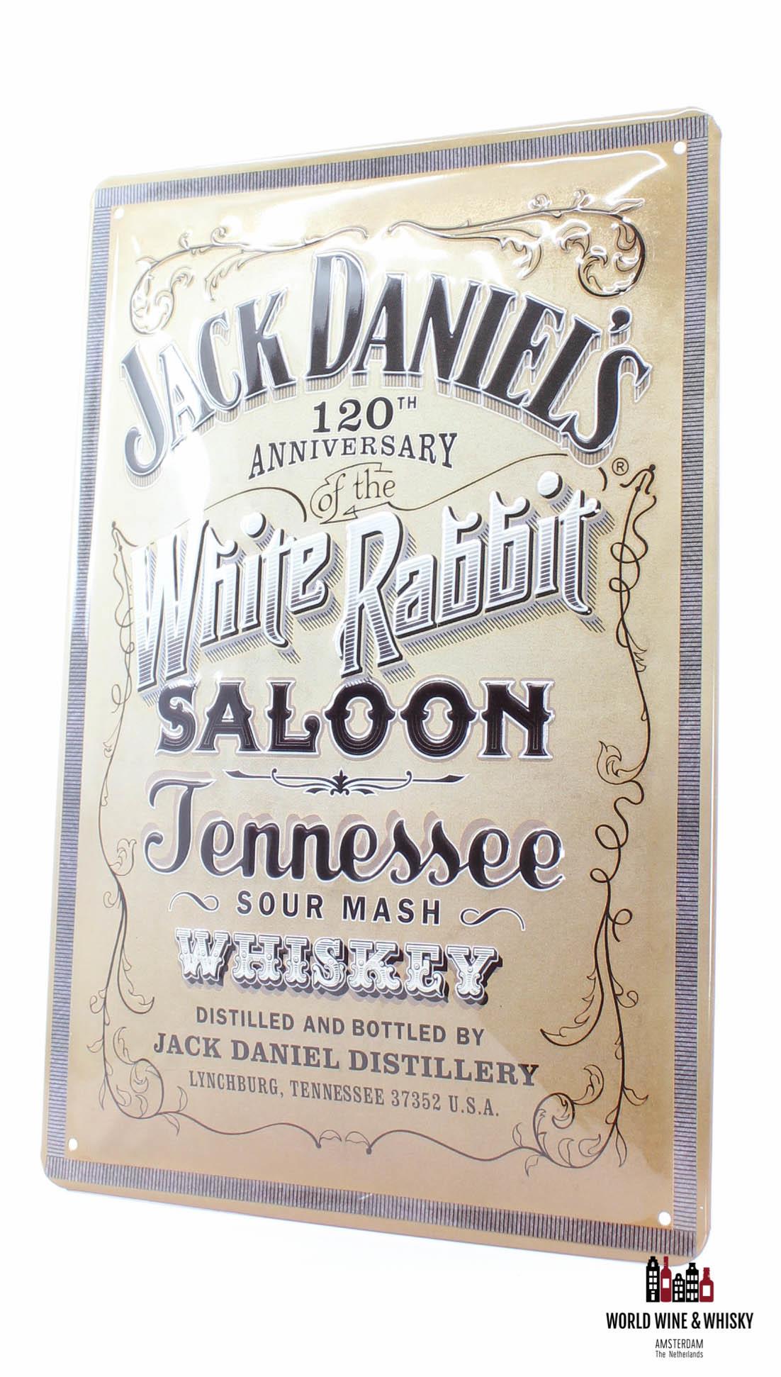 Jack Daniel's Iron Jack Daniel's Billboard Plate Sign - 120th Anniversary - White Rabbit Saloon