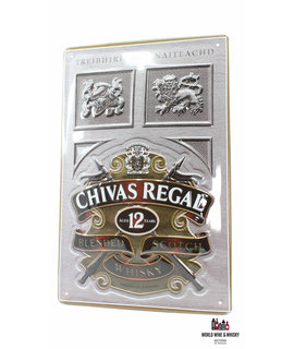 Chivas Regal IJzeren Chivas Regal 12 Years Old Billboard Plate Sign reclamebord - Blended Scotch Whisky