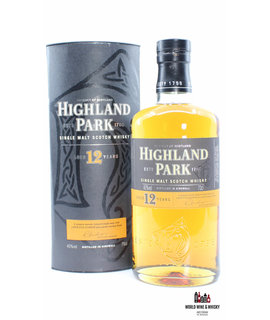 Highland Park Highland Park 12 Years Old 40% (black-orange label)