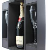 Moët Chandon Moët Chandon Imperial Champagne Brut - in luxury case + 2 flutes glasses