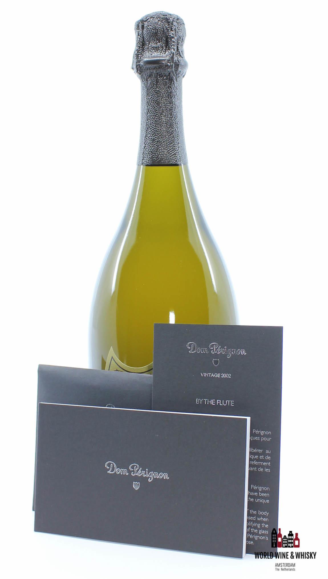 Dom Perignon Dom Perignon 2002 Vintage Champagne Brut in giftbox + 2 flutes glasses