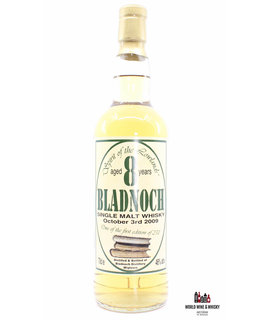 Bladnoch Bladnoch 8 Years Old - First Edition Label - October 3rd 2009 46%