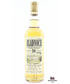 Bladnoch Bladnoch 20 Years Old 1990 2010 - Cask 136 - New Label 52.4%