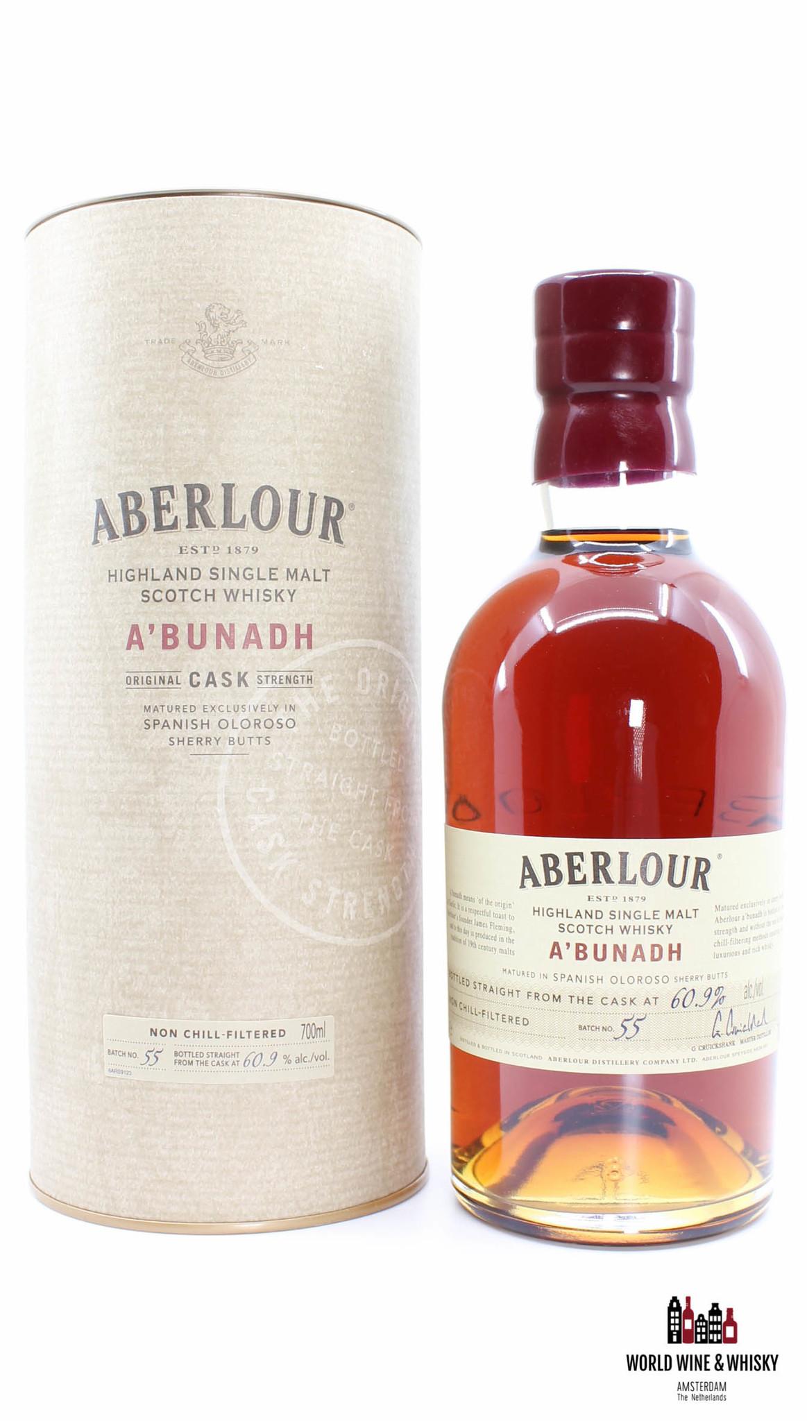 Aberlour Aberlour 2016 A'bunadh - Batch No. 55 - Spanish Oloroso Sherry 60.9%