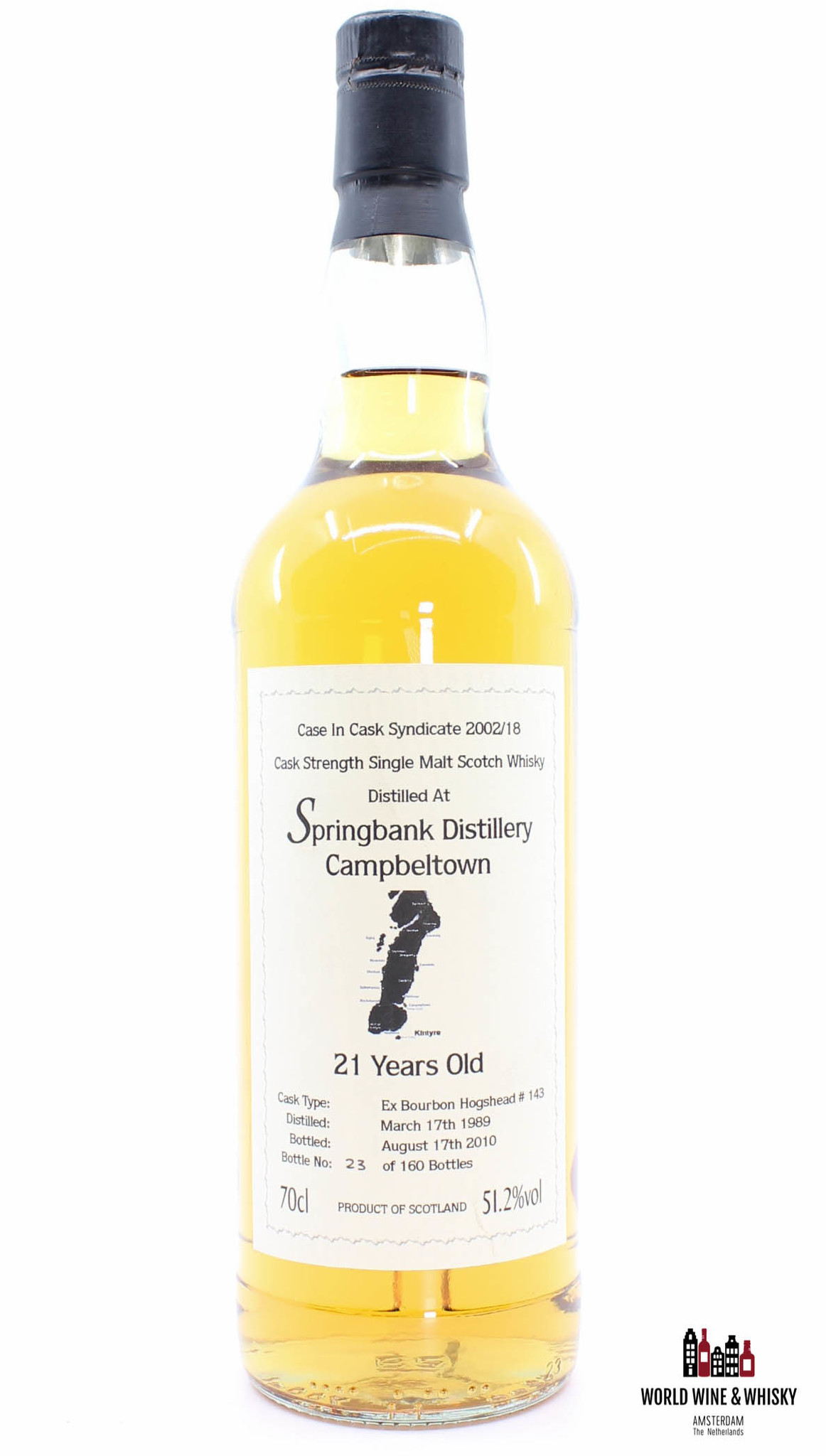 Springbank Springbank 21 Years Old 1989 2010 - Case in Cask Syndicate 2002/18 - Cask 143 51.2%