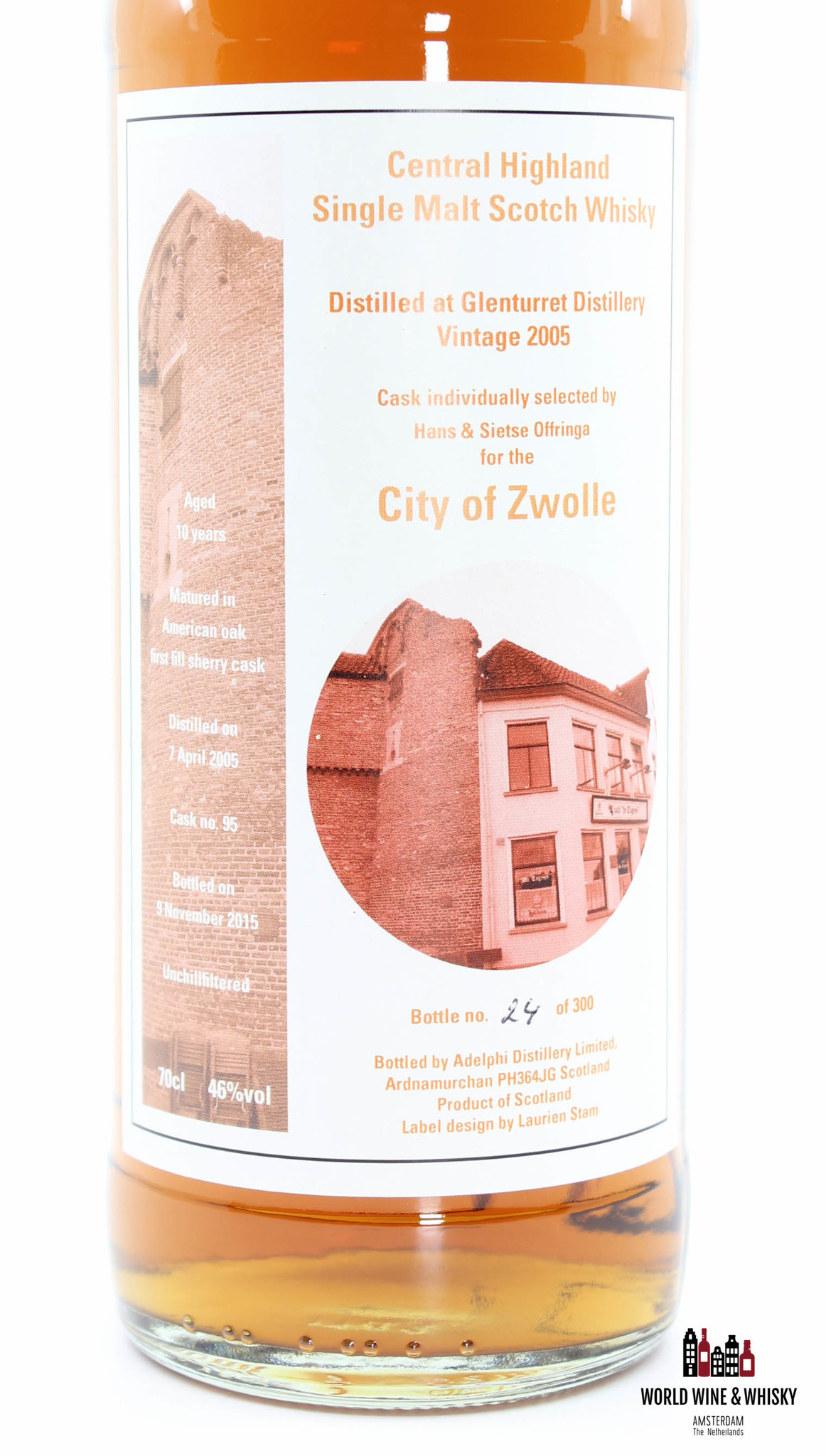 Glenturret Glenturret 10 Years Old 2005 2015 - City of Zwolle - Adelphi - Cask 95 46%