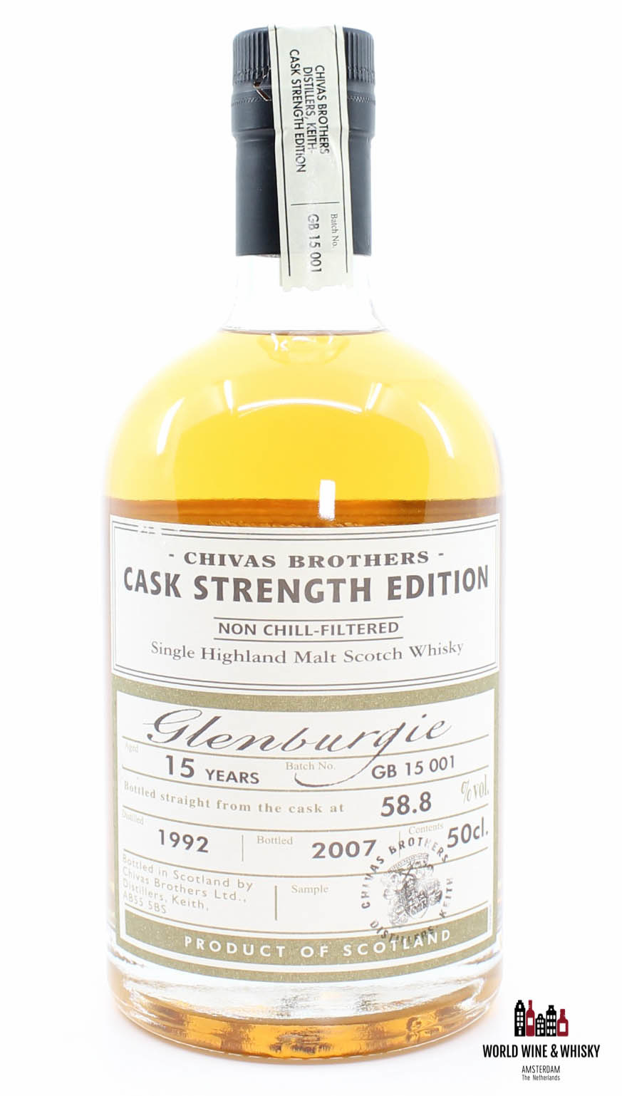 Glenburgie Glenburgie 15 Years Old 1992 2007 Batch GB 15 001 - Chivas Brothers - Cask Strength Edition 58.8%