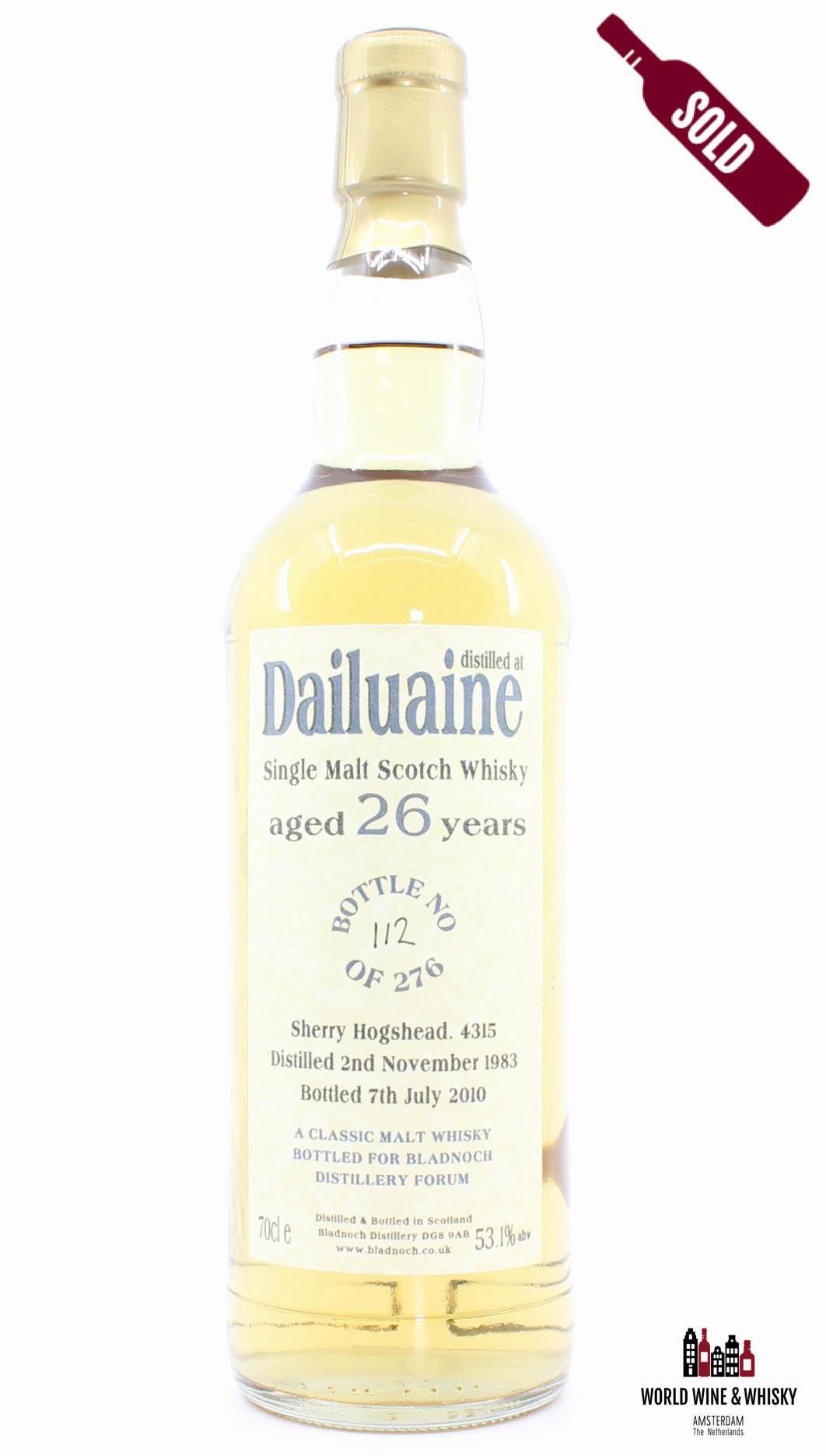 Dailuaine Dailuaine 26 Years Old 1983 2010 - Cask 4315 - Bladnoch Forum 53.1%