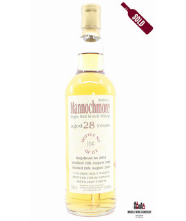 Mannochmore Mannochmore 28 Years Old 1982 2020 - Bladnoch Forum - Cask 2852 50.8%