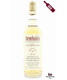 Benrinnes Benrinnes 25 Years Old 1984 2010 - Cask 2273 - Bladnoch Forum 51%