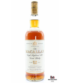Macallan Macallan 12 Years Old Sherry Wood - USA Edition - Sole U.S.A. Distributor, Remy Amerique Inc. New York, N.Y. 750ml