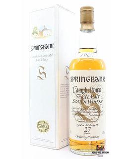 "Springbank Springbank 27 Years Old 1967 1995 Big Golden ""S"" 46% 700ml"