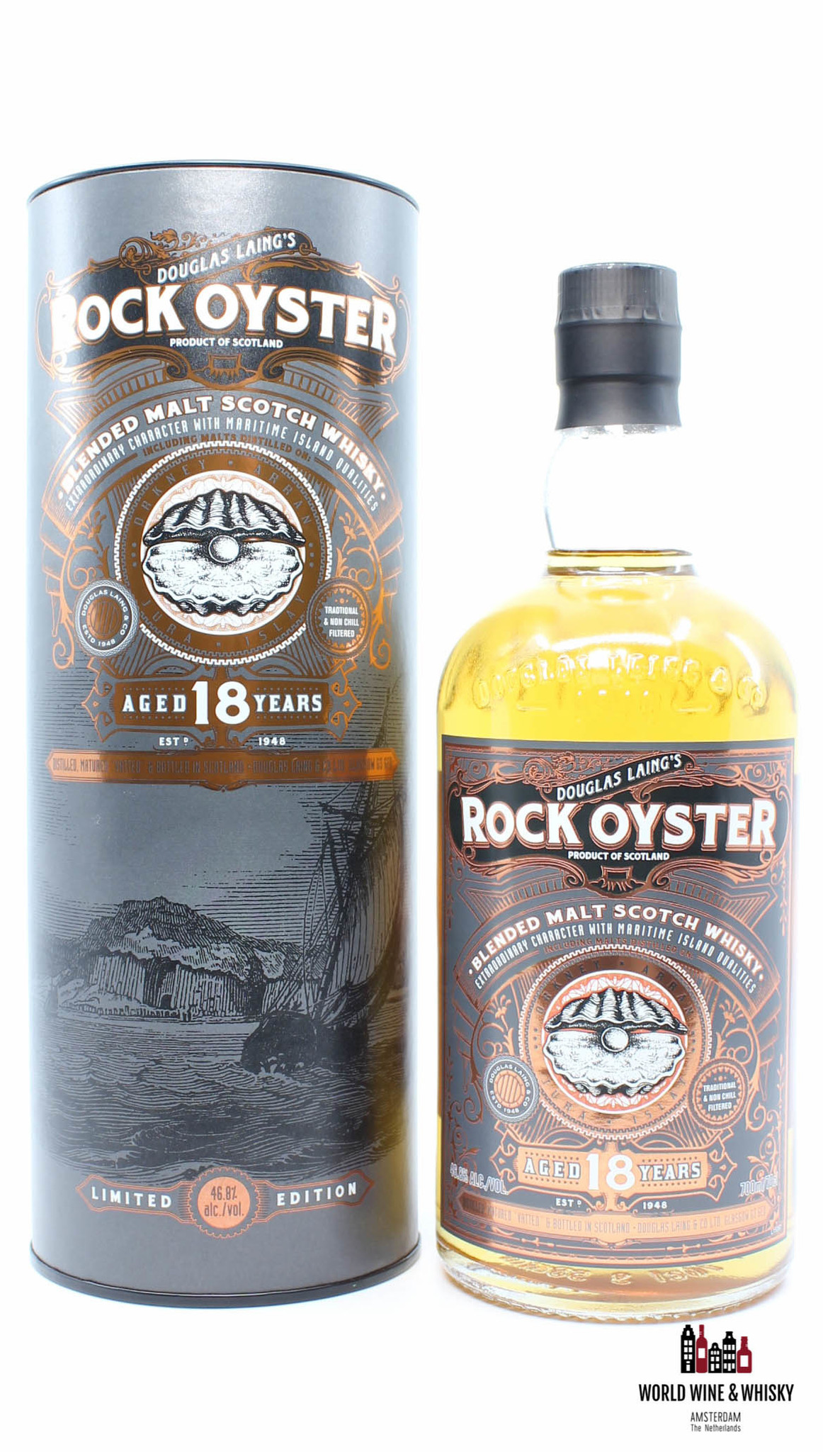 Douglas Laing Rock Oyster 18 Years Old 2017 - Douglas Laing - Limited Edition - Remarkable Regional Malts 46.8%