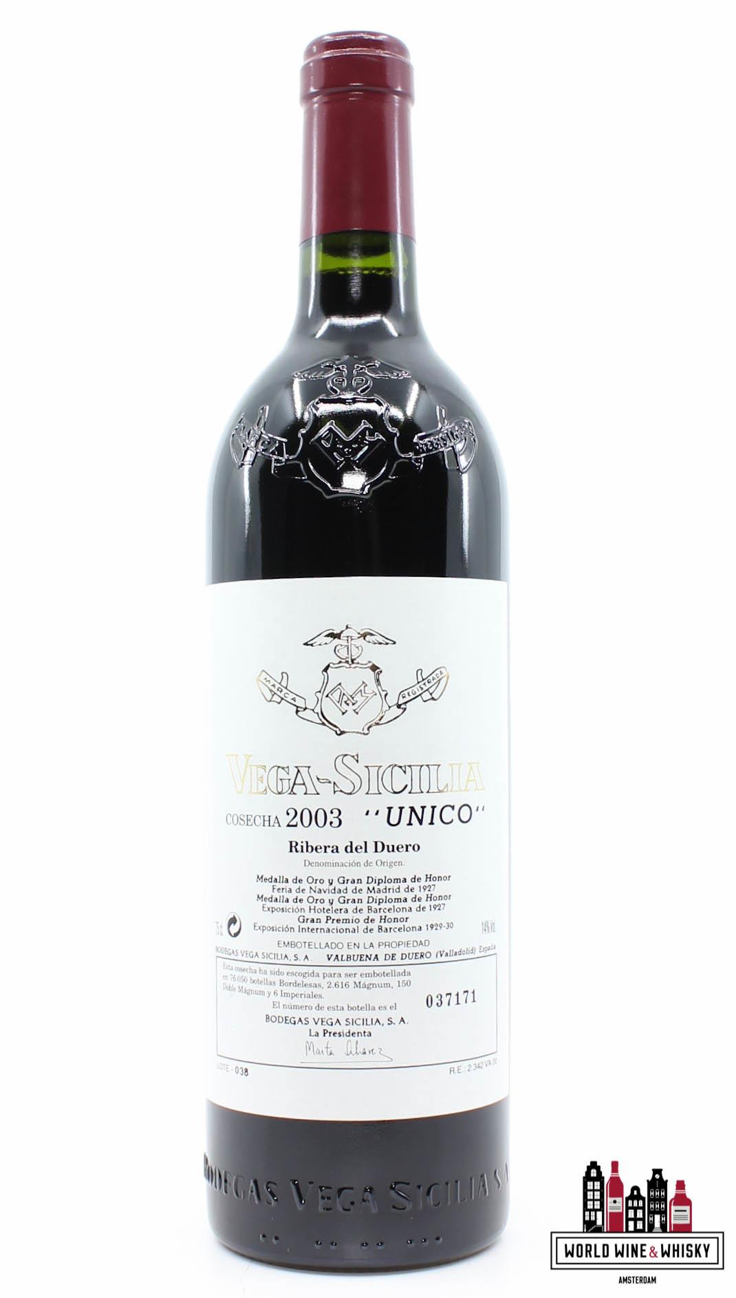 Vega Sicilia Unico Ribera Del Duero 2003 In The 3 Bottles Owc World Wine Whisky