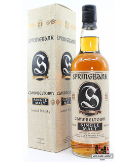 Springbank Springbank 21 Years Old 1998 - Campbeltown Single Malt 46% 700ml (1 of 2400)