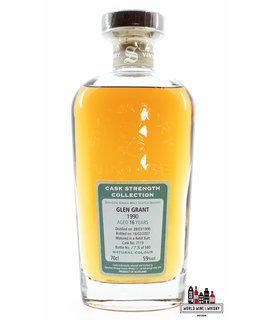 Glen Grant Glen Grant 16 Years Old 1990 2007 - Cask 7119 - Cask Strength Collection - Signatory Vintage 59% (1 of 580)