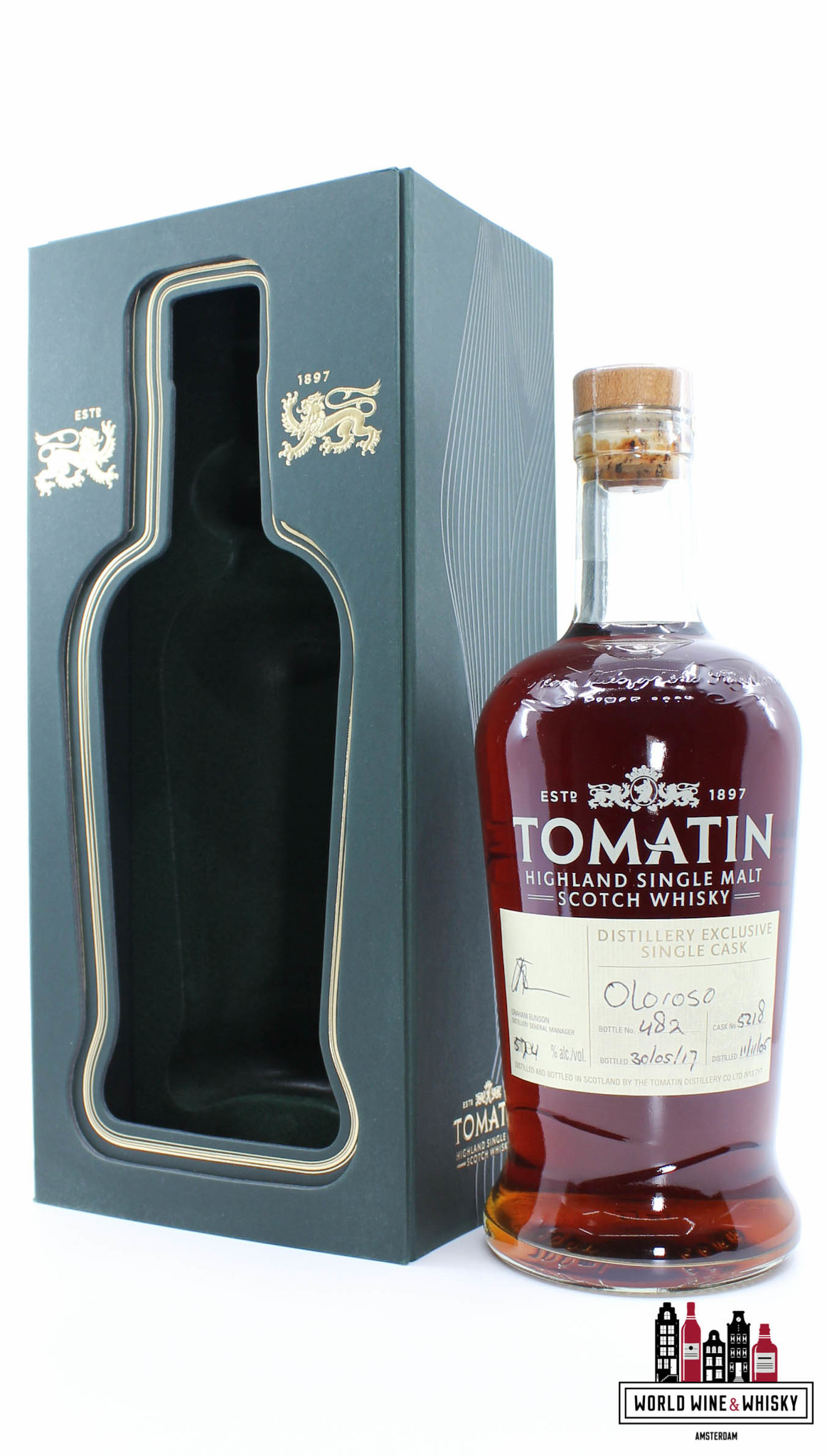 Tomatin Tomatin 11 Years Old 2005 2017 - Hand Bottled, Distillery Exclusive - Single Cask - Cask 5218 57.4%