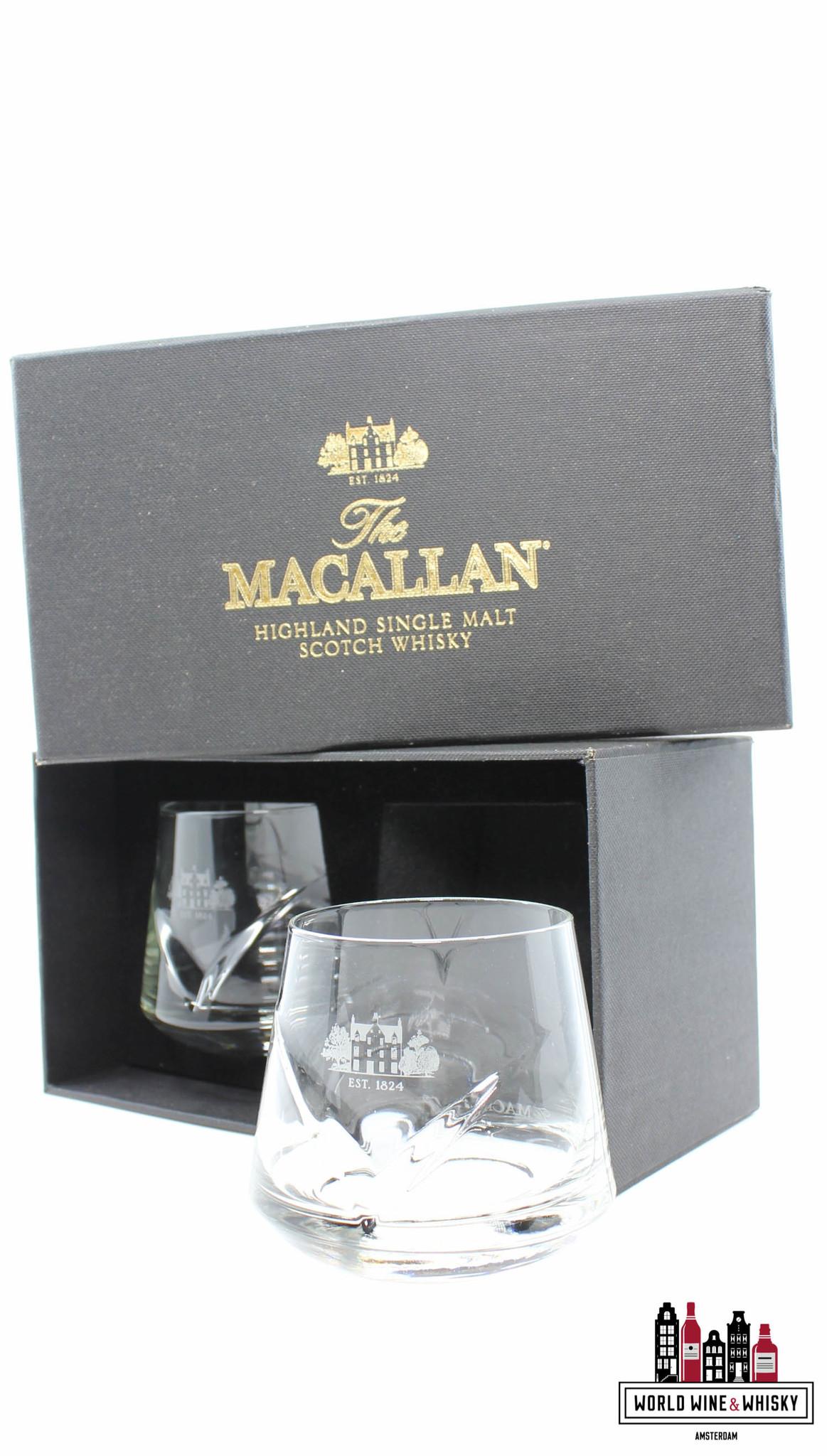 Macallan Macallan chevron tumblers gift box set (2 glasses)