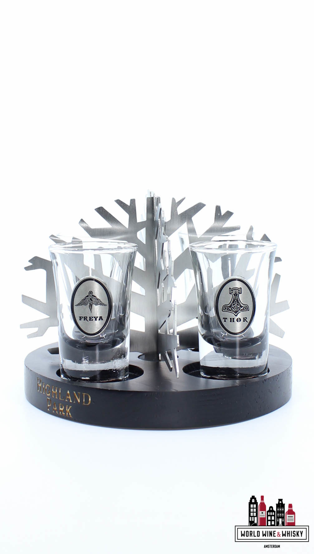 Highland Park Highland Park Valhalla Shot Glass Set (4 glasses incl. display)