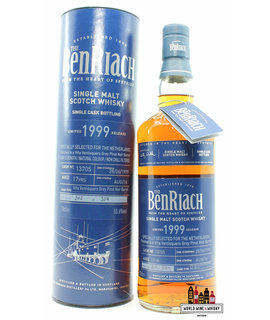 BenRiach Benriach 17 Years Old 1999 2016 - Cask 13705 - Bottled for The Netherlands 53.6% (1 of 329)