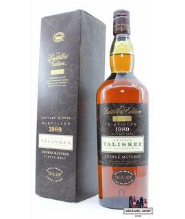 Talisker Talisker 1989 2002 - The Distillers Edition - Double Matured - TD-S: 5 DP 45.8% 1000ml (1 litre)