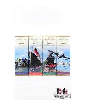 Macallan Macallan Travel Series set: 1920's (Twenties), 1930's (Thirties), 1940's (Forties), 1950's (Fifties) 40% (Full set)