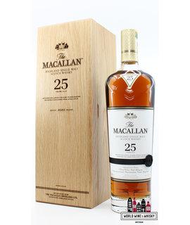 Macallan Macallan 25 Years Old 2020 Release - Sherry Oak Casks from Jerez 43% (in luxury wooden case)