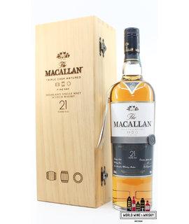 Macallan Macallan 21 Years Old 2011 - Fine Oak Triple Cask Matured 43% (In luxury wooden case)