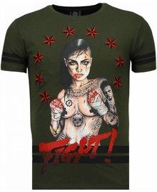 T-shirt - Fighter! - Grün