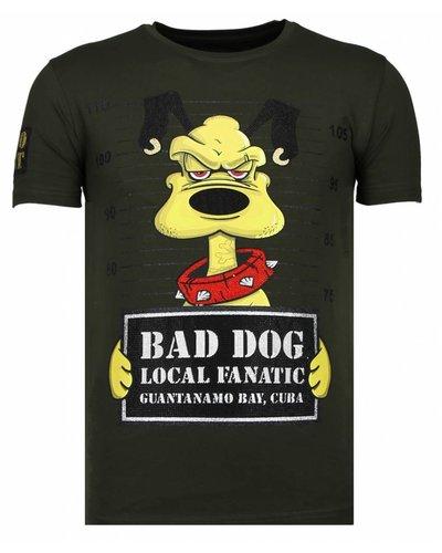 Local Fanatic Camiseta - Bad Dog - Verde