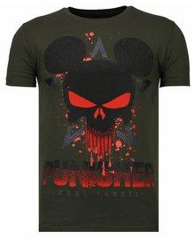 Local Fanatic T-shirt - Punisher Mickey - Grün