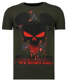 Local Fanatic T-shirt - Punisher Mickey - Khaki