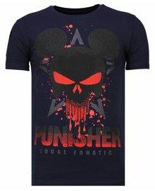 Local Fanatic T-shirt - Punisher Mickey - Blauw