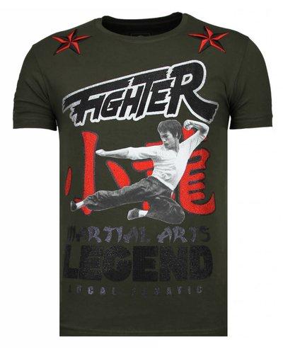 Local Fanatic T-shirt - Fighter Legend - Khaki