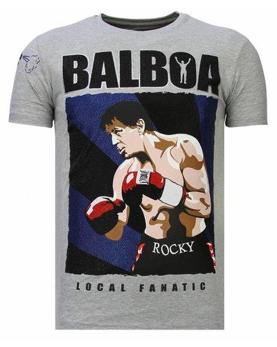 Local Fanatic T-shirt - Rocky Balboa - Grijs